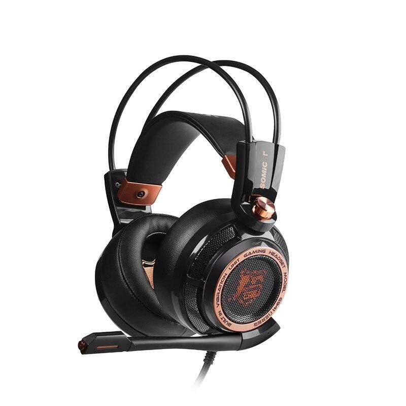 Sômica G941 Atualização USB 7.1 Virtual Gaming Fone de Ouvido com Microfone Vibração Active Noise Cancelling fone de ouvido para PC Computador Gamer