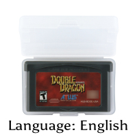 32 Bit Video Game Cartridge Double Dragon Advance Console Card US Version English Language Support Drop shipping32 Bit Video Game Cartridge Double Dragon Advance Console Card US Version English Language Support Drop shipping