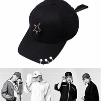 Wholesale Five Pointed Star Decoration Fashion Male Female Cap Baseball Cap Summer Cap Hip Hop Fitted
