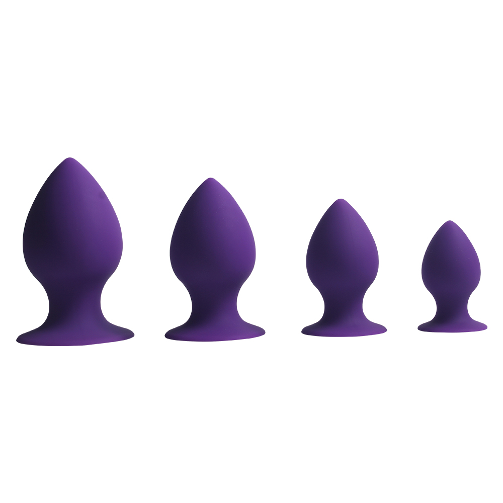 4pcs/Set Small Medium Big Stainless Steel Metal Anal Plug Dildo Sex Toys Products Butt Plug Gay Anal Beads