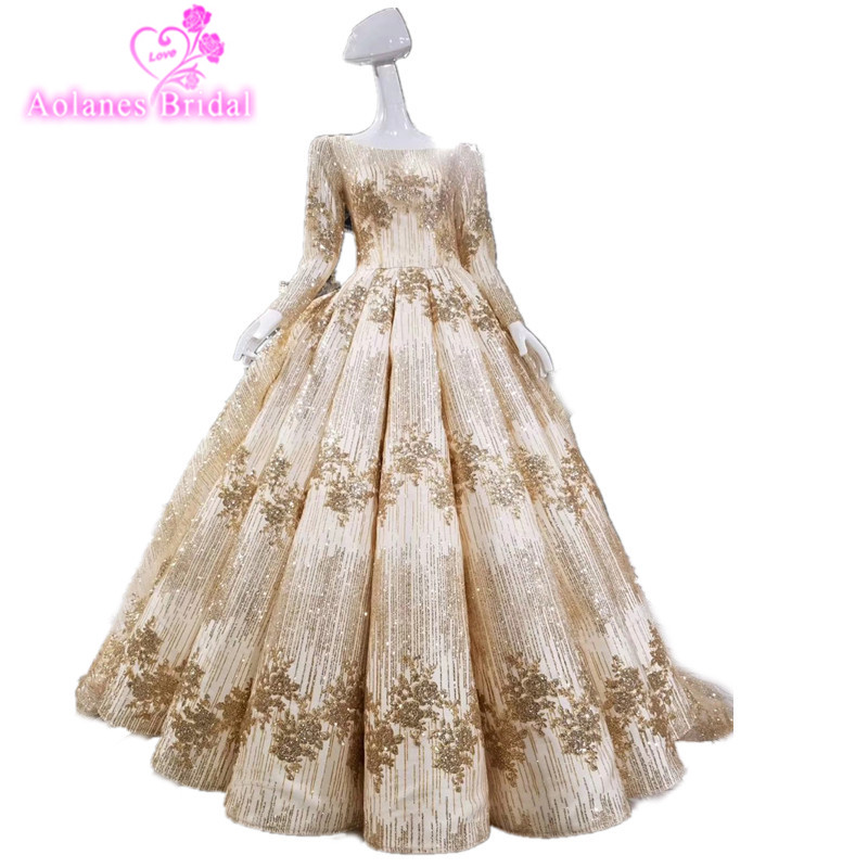 Online shop aolanes luxury lace crystals appliques arabic champagne online shop aolanes luxury lace crystals appliques arabic champagne gold wedding dresses red gold bridal gown 2018 long train bridal dresses aliexpress junglespirit Image collections