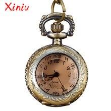 14c540af682 Vintage Pendant Hollow Exquisite Grilles Elegant Retro Gift Men Women Pocket  Watch with Brass Quartz Necklace