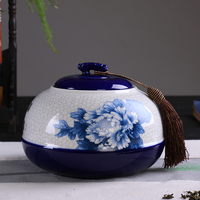 China creative ceramic tea leaves Ru kiln blue and white porcelain kiln Zisha 250g ceramic tea pot