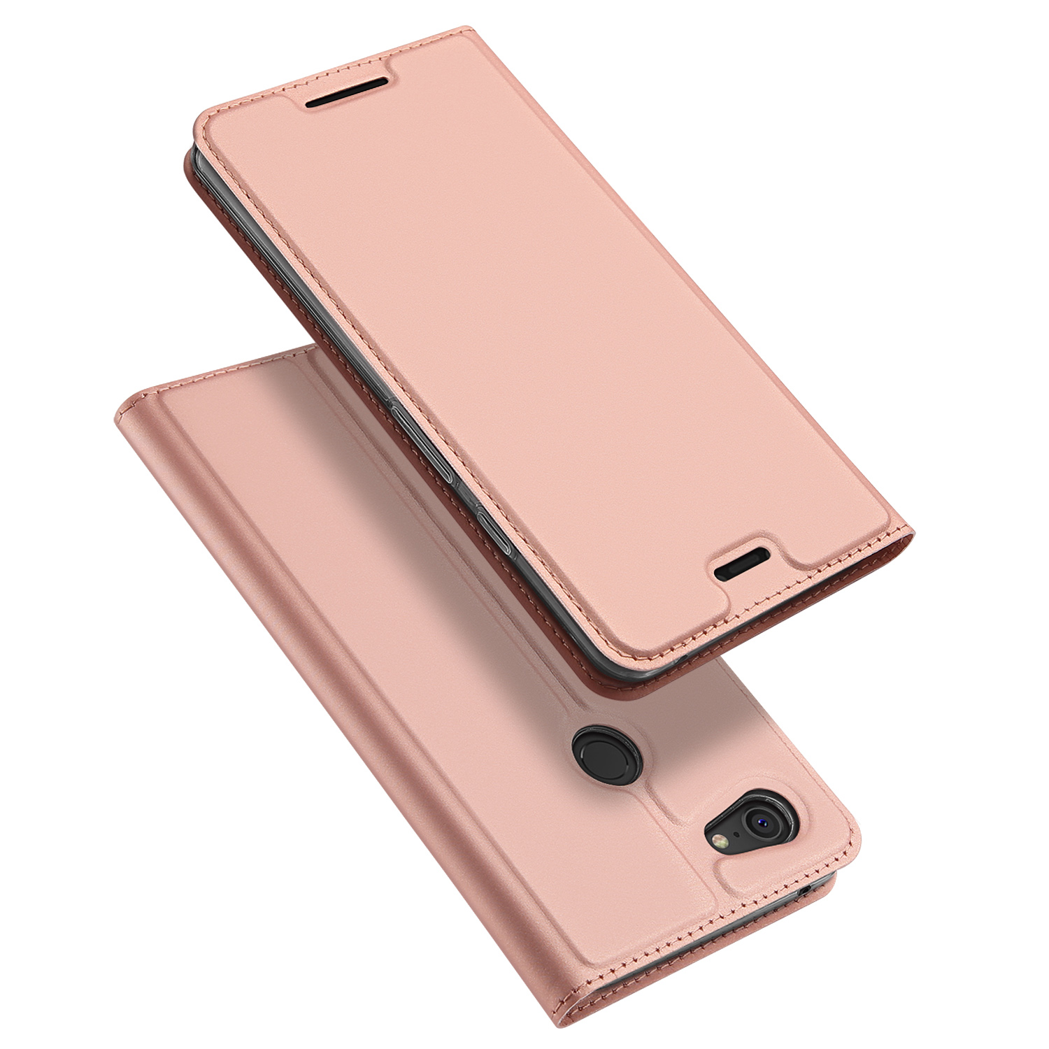 Flip Case For Google Pixel 3 XL PU Leather TPU Soft Bumper Protective Card Slot Holder Wallet Stand Cover Mobile Phone Bag