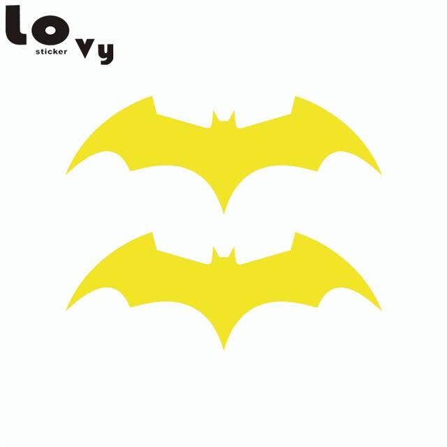 2 Pcs Criativo Bat Adesivos De Carro Dos Desenhos Animados De