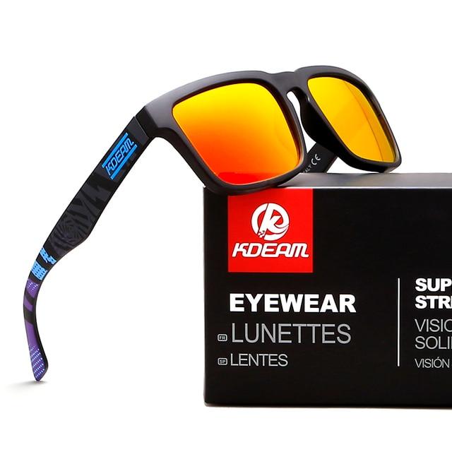 43b2fc241d53a Kdeam Eyewear Reflexivo Revestimento Fashion Square Óculos De Sol Da Marca  Designer Verão Óculos de Sol