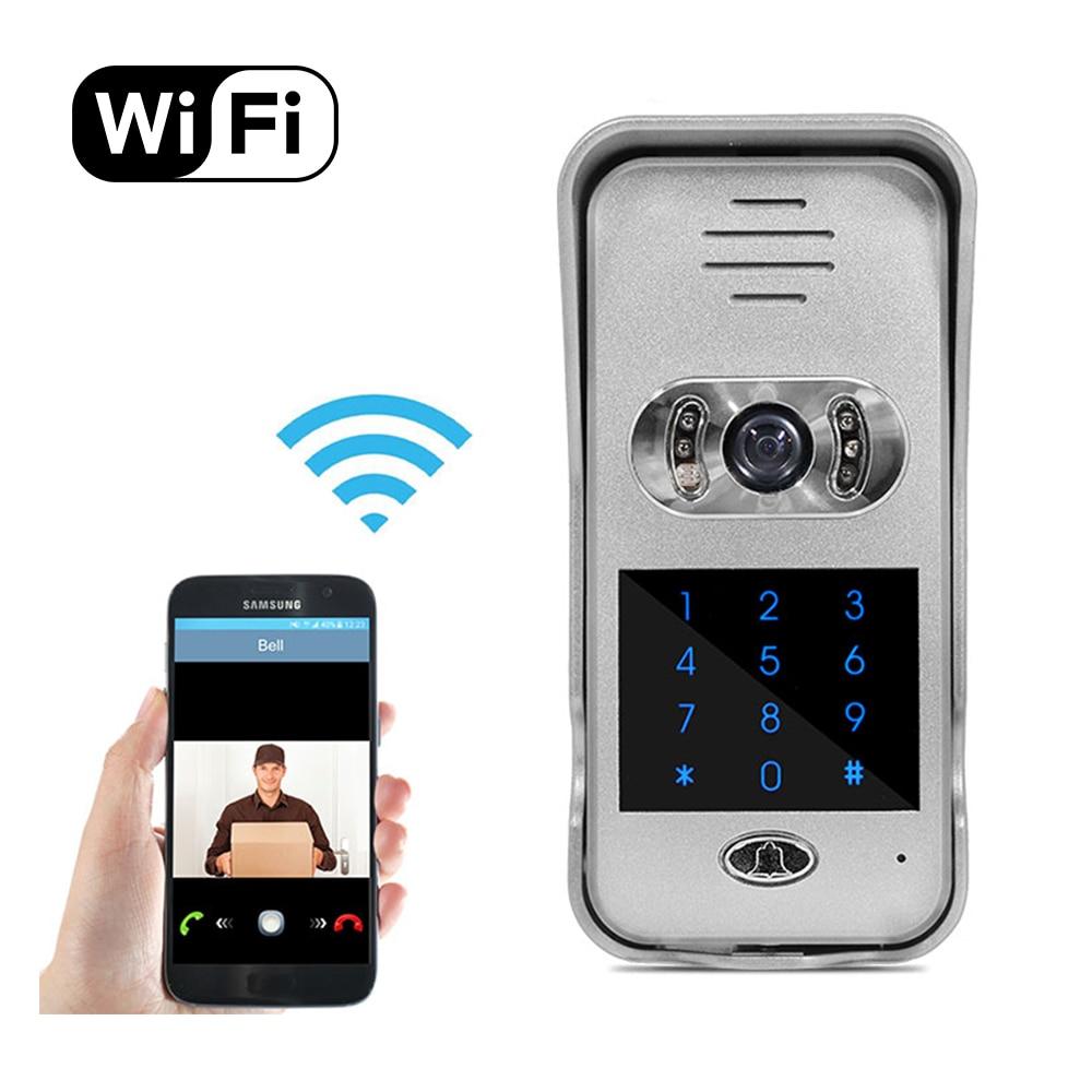 US $179 0  IR Night Vision Smart Phone Remote Unlock Network Door Video  Camera Intercom Wifi Video Door Phone with Keypad-in Doorbell from Security  &