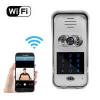 IR visión nocturna teléfono inteligente desbloqueo remoto red puerta cámara de vídeo intercomunicación Wifi Video puerta teléfono con teclado