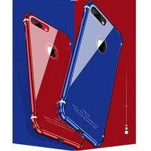 Одежда высшего качества роскошный мобильный телефон чехол для iPhone 8 Plus Мода чехол для Apple IPhone 8 плюс Металл Алюминий футляр задняя крышка