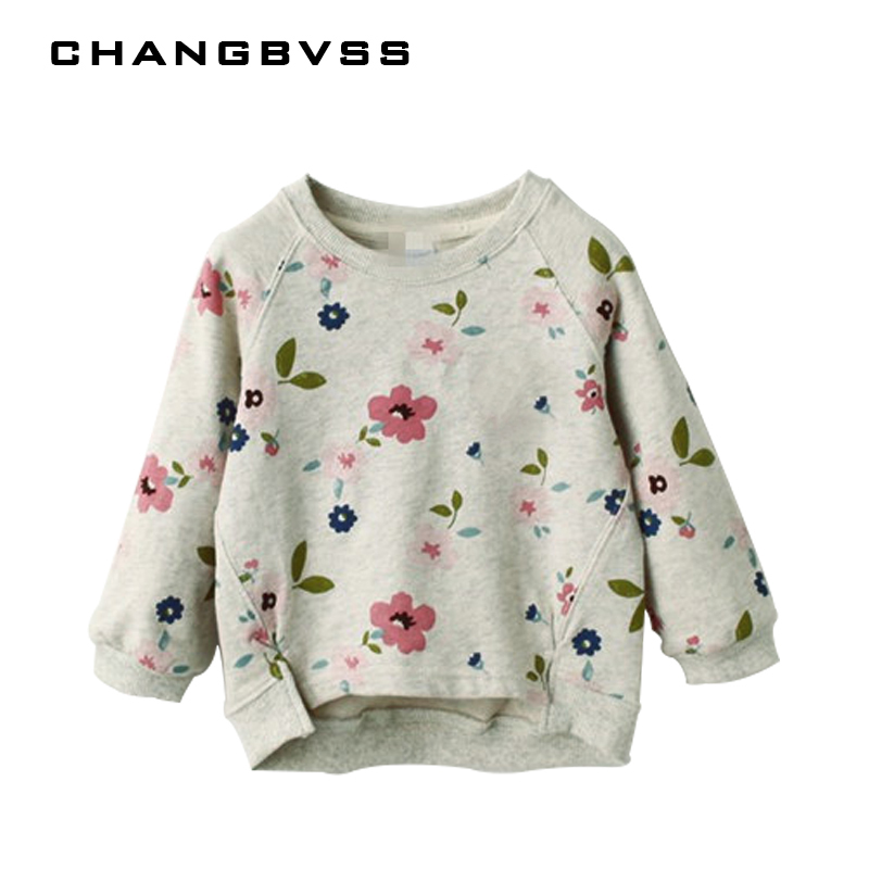 Spring Kids Children Outer Wear Sweatshirt,Flower Print Girls Pullover Baby Tops Clothes,Long Sleeves T-shirt Baby Girls Sweater rabbit print pullover