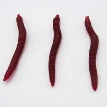 100pcs / bag 4cm high quality soft bait fishing worms artificial earthworm fishing bait soft fishing lure