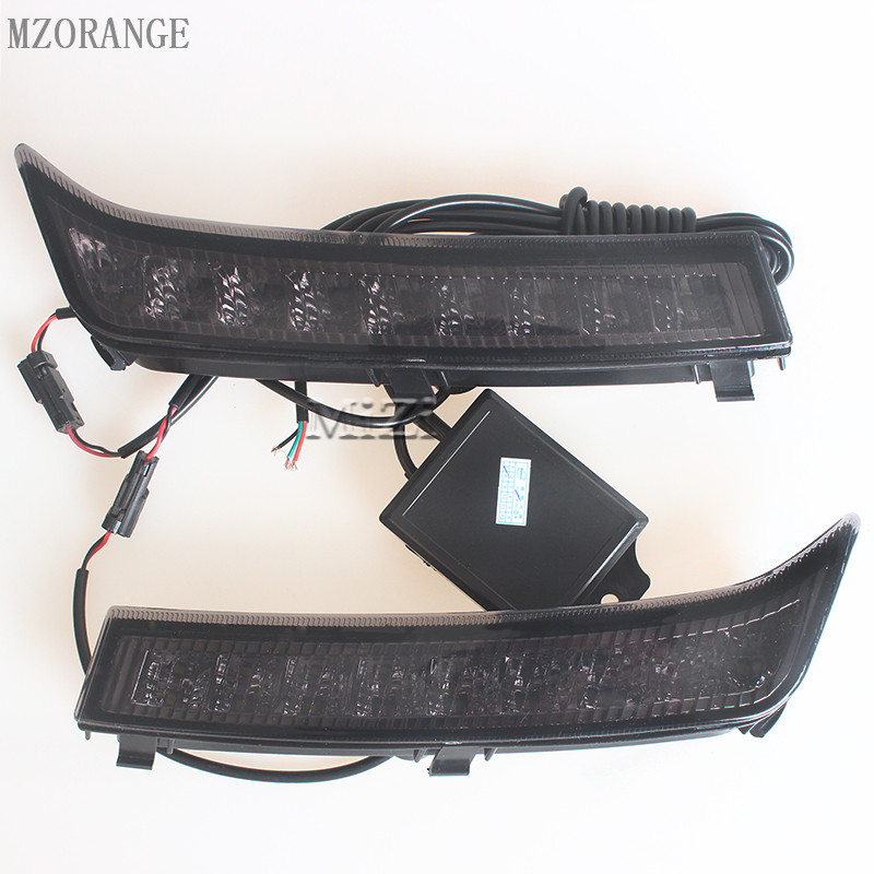 1 Pair LED White DRL Daylight Car DRL Fog Head Lamp Daytime Running Lights Cover Car Styling For Subaru Forester 2013 2014 2015 1 set led daytime running lights front driving fog lamps drl for subaru forester 2014