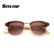 Snvne pierna gafas de madera Semi-Sin Montura gafas de sol de madera De Bambú soleil luneta oculos gafas de sol feminino masculino mujer hombre