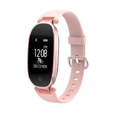S3 Sport Smart Watch Life Waterproof Fashion Rose Gold Leather Smartwatch Heart Rate Tracker Women Watches For Android IOS фитнес браслет xride s3 rose gold