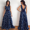 Sexy maxi dress Women Floral Print Ball Gown backless fashion clothes china vestido largo evening party Long Dress #420