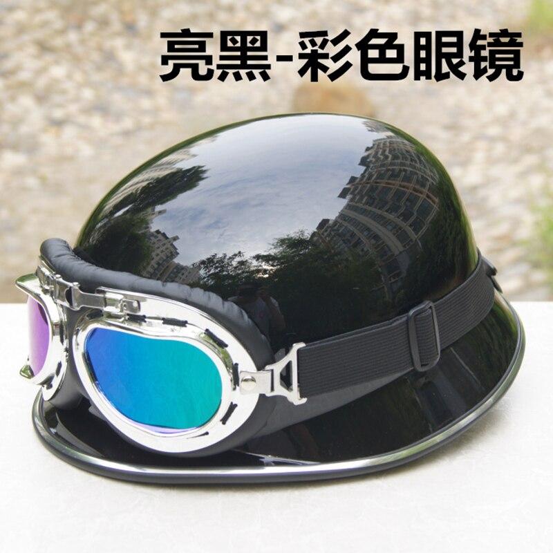 Motorcycle half Helmet German Capacete Moto helmets Motorbike Dirt Bike Mens Helmets motorcycle Glasses