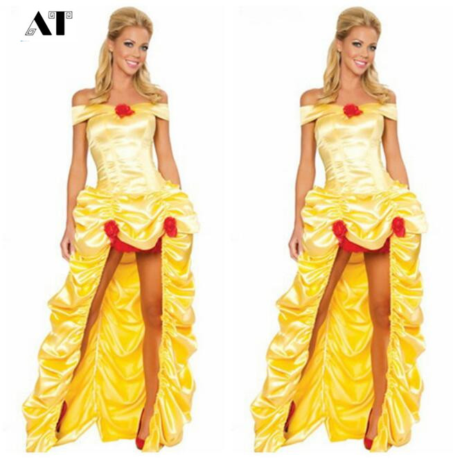Home Realistic Halloween Costumes For Women Adult Cinderella Dress Princess Belle Costume Female Snow White Costume Fairy Tale Dress Cool In Summer And Warm In Winter