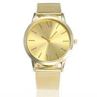 Fashion Golden Roman Numerals Women S Quartz Wristwatch Steel Strap Dress Watch Women S Bracelet Watch