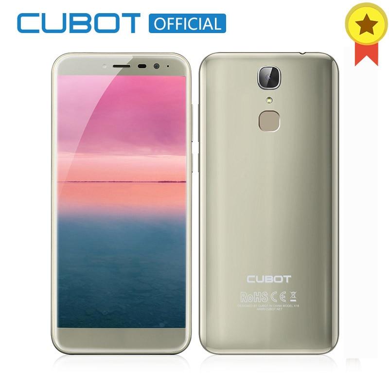 Cubot X18 32 3 gb RAM gb ROM 5.7 18:9 Borda-Menos MT6737T Tela Android 7.0 Quad Core smartphones Câmera 13MP Celular Digital