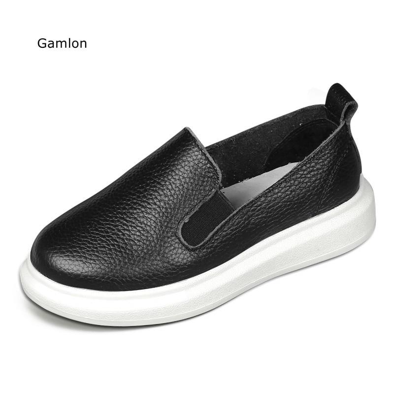 Gamlon Kinder Turnschuhe 2017 New Fashion Echtes Leder Herbst Jungen Mädchen Schuhe Klassischen Stil Für Kinder Studenten Sport Schuhe