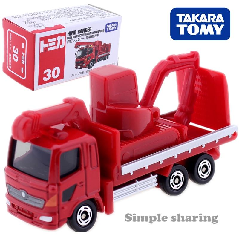 Takara Tomy Tomica No 30 Hino Ranger modèle lourd transporteur de machines de construction Moulé Sous Pression miniature bébé jouets métallique babiole