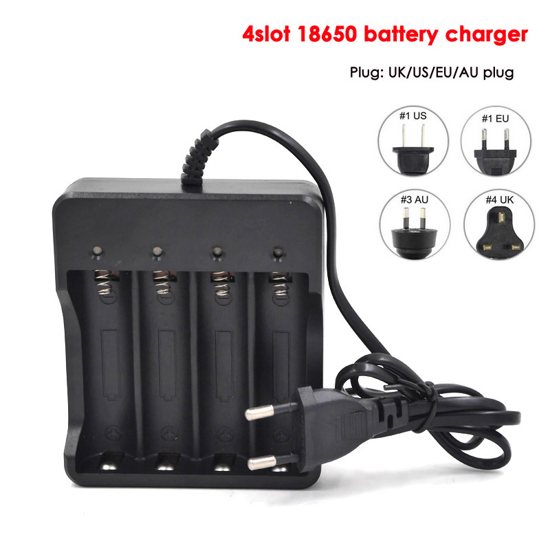 Eu Us Plug 4 Slots Intelligent Battery Charger With Short Circuit
