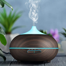 Прекрасный 500 мл Аромат эфирные масла диффузор ультразвуковой увлажнитель воздуха древесины 7 цветов светодио дный изменить свет HY99 JY23