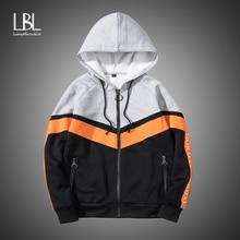 2019 Men's Zipper Hoodies Fashion Winter Tracksuit Casual Warm Hooded Sweatshirt Male Bomber Jacket Slim Fit Fleece Hoodies