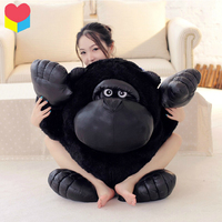 1pcs 28cm Movie Planet Of The Apes Rise Stuffed Toy King Black Chimpanzee Plush Toy Throw