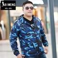Outono e inverno nova adicionar fertilizantes aumentou fina blusão homens casaco cor da moda tendência de gordura maré gordura grande código FY1502