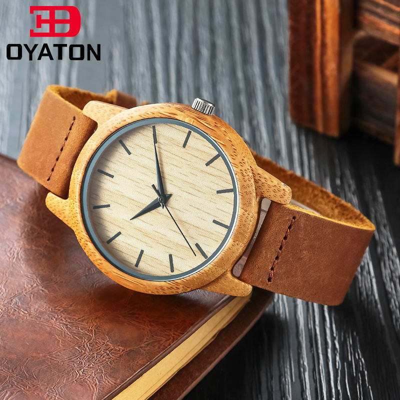 font b Watches b font font b Wooden b font Women Men Vintage Leather Quartz