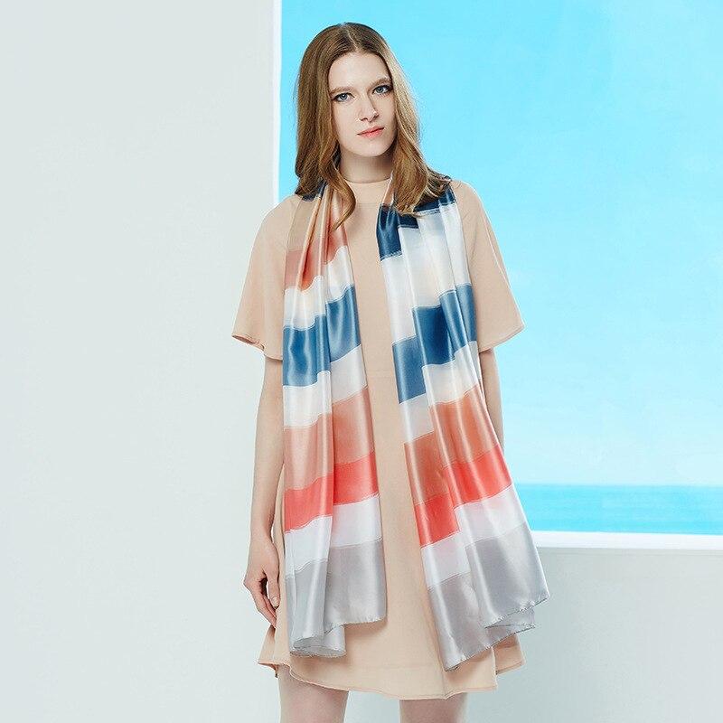 2017 Fashion Women Silk Scarf Digital Luxury Brand Woman Scarves Fashion Shawl & Wrap Luxury Long Soft Foulard Print hijab