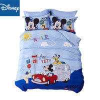 Disney Mickey Minnie Mouse Bedding Set Single Size Duvet Cover twin size bed for kids cotoon Pillow Cases 3pcs Home Textile hot