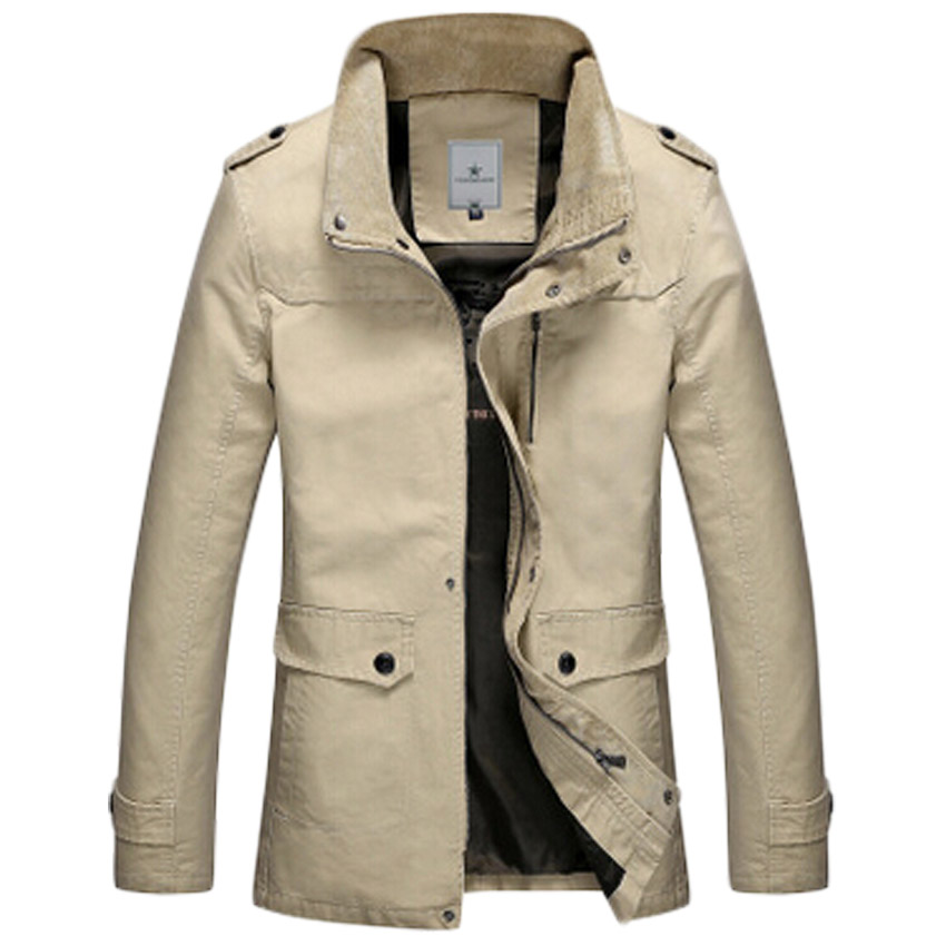 2017 Fashion Trench Men Single-breasted Trench Coats Casual Slim Fit Outwear Jacket Plus Size 4XL 68hfx