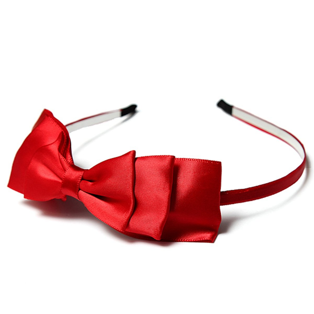 Bow Hairband Soft Elastic Bowknot Headband Hair Accessories For Children Adults Red Fine Quality