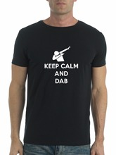 Brand New 2018 Summer Mens Short Sleeve Cool Casual Keep Calm And Dab Hip Dance Fun Party T Shirt Age funny Tshirt  Fre
