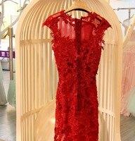 Русалка вечернее платье вечерние платья vestidos de festa вечерние платье Роскошные кружева на шнуровке сзади реальное изображение Вечерние