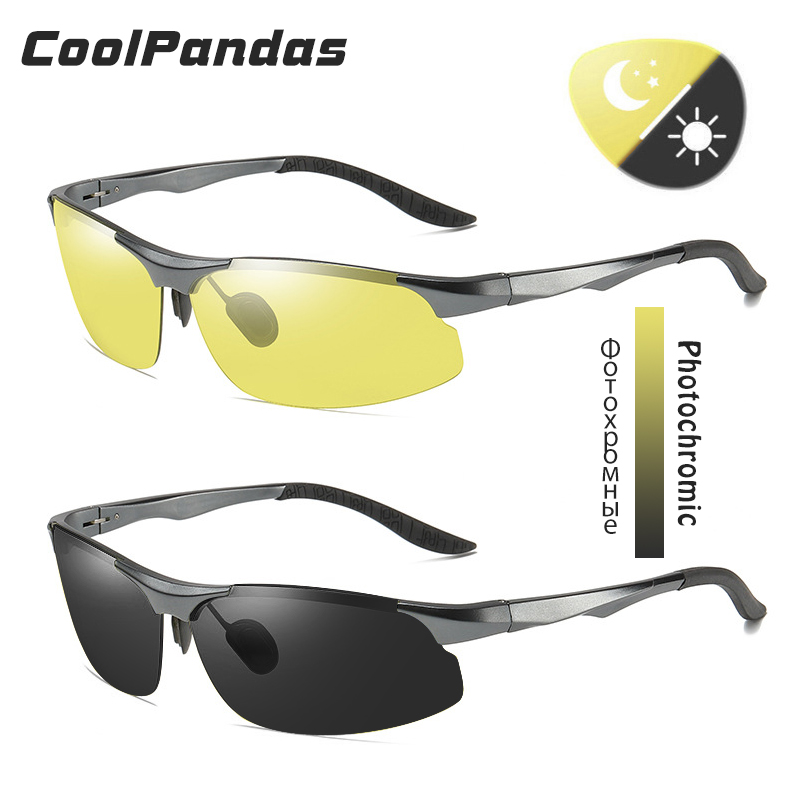 Aluminum Magnesium Photochromic Polarized Sunglasses Men Driving Glasses Day Night Vision Driver Goggles Oculos De Sol Masculino