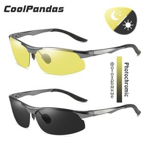 Image 2 - אלומיניום מגנזיום Photochromic מקוטב משקפי שמש גברים נהיגה משקפיים יום ראיית לילה נהג משקפי Oculos דה סול Masculino