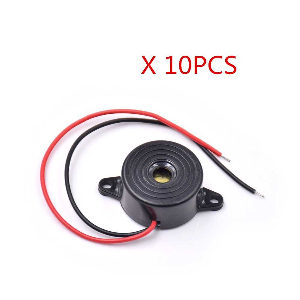 Free Shipping 10pcs/lot  3-24V Piezo Electronic Buzzer Alarm 95DB Continuous Sound Beeper For Diy Car