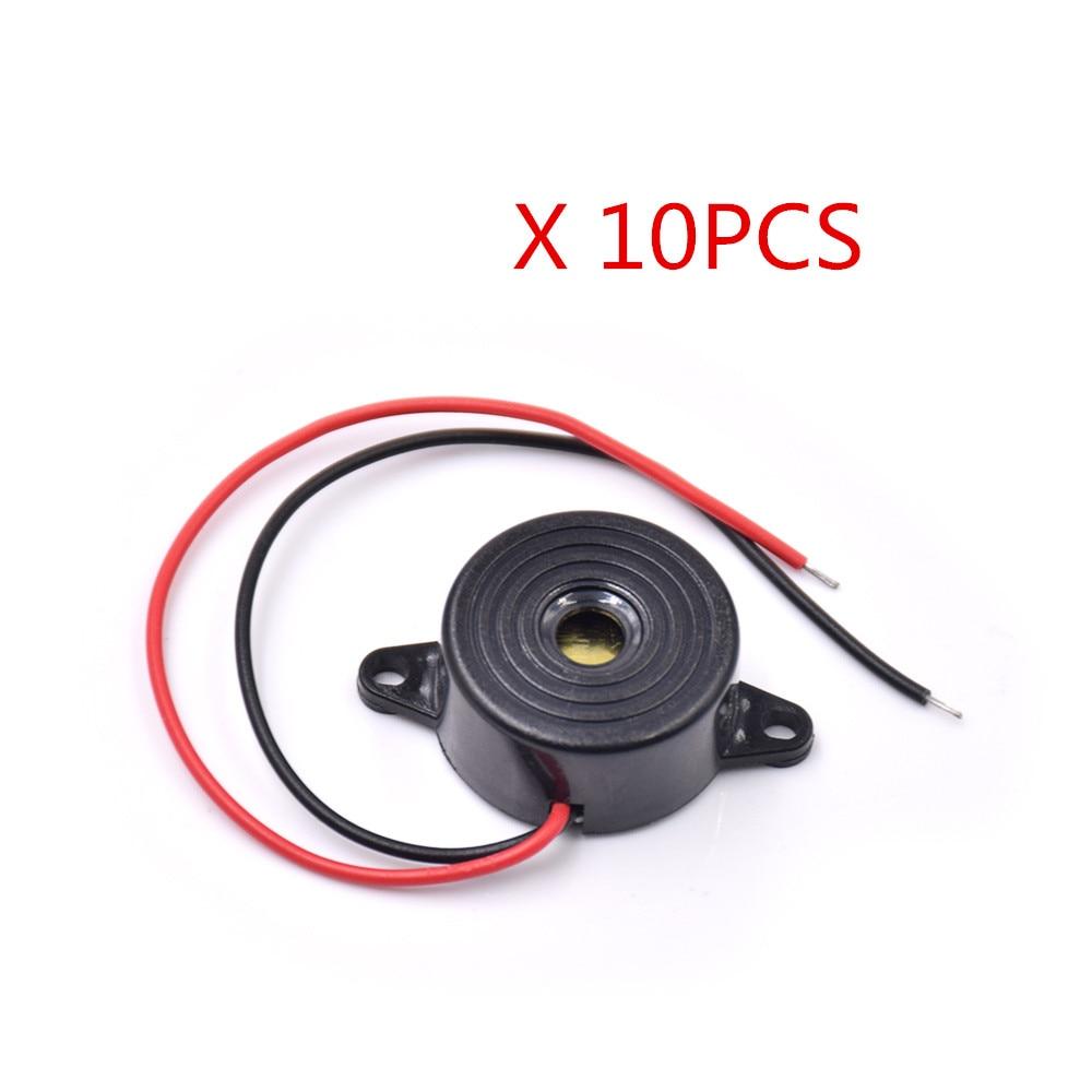 Free Shipping 10pcs/lot  3-24V Piezo Electronic Buzzer Alarm 95DB Continuous Sound Beeper For Diy Car