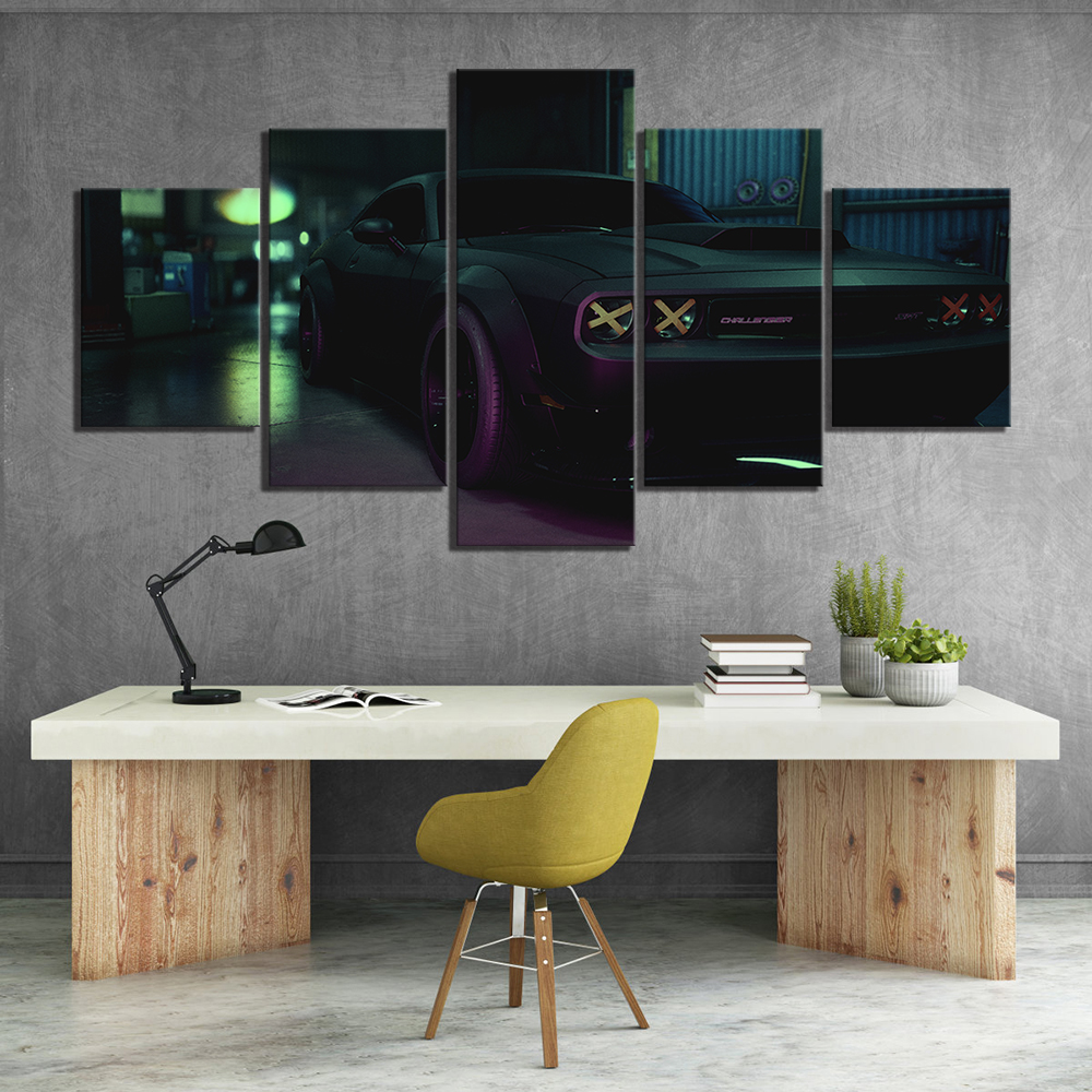 Wall Art Canvas Home Decor Painting 5 Panel Need for Speed Luxury Car HD Print Modern Posters Cuadros Modular Pictures Bedroom image