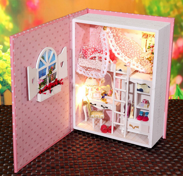 New Aririve Diy Doll Home Mannequin Constructing Kits Picket Miniature 3D Handwode Dollhouse Miniature Christmas Presents Birthday Presents