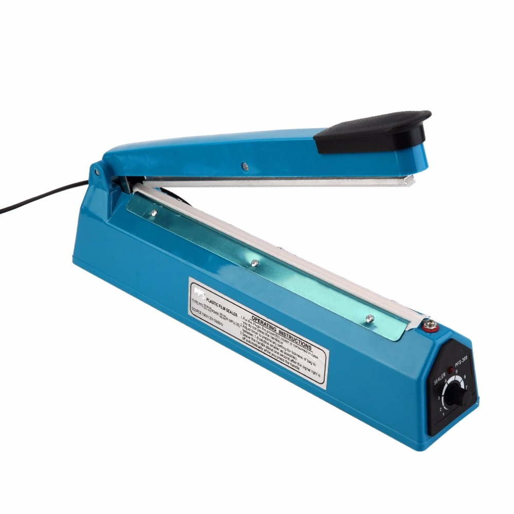 200/300mm Eco Friendly Hand Heat Sealing Machine Hand Impulse Sealer Plastic Bag Closer Teflon seal with US Plug