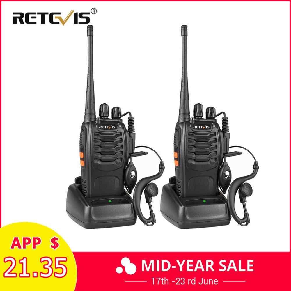 2 шт. RETEVIS H777 Walkie Talkie 3 Вт УВЧ двухсторонняя радиостанция приемопередатчик двухстороннее радио-коммуникатор зарядка через usb рация