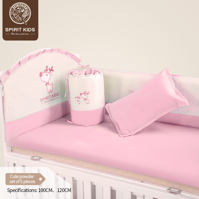 <font><b>Baby</b></font> <font><b>bedding</b></font> <font><b>sets</b></font> 5 piece <font><b>set</b></font> soft and comfortable for girls and boys breathable close skin No fluorescent agent image