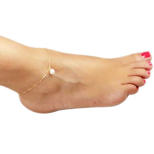 Летние бусы кулон браслет на ногу средства ухода за кожей стоп ножная цепочка жемчужное, надевается на голую ногу босоножки женские браслеты для щиколотки пляжный ножной браслет бижутерия для ног