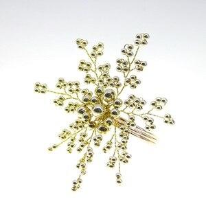 Image 4 - Gratis verzending parel servetring kralen servet houder voor wedding vele kleuren 12 stks