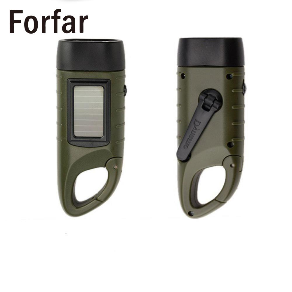 Portable 3 LED Hand Crank Dynamo Solar Power Torch Flashlight Camping Outdoor Camping tent light