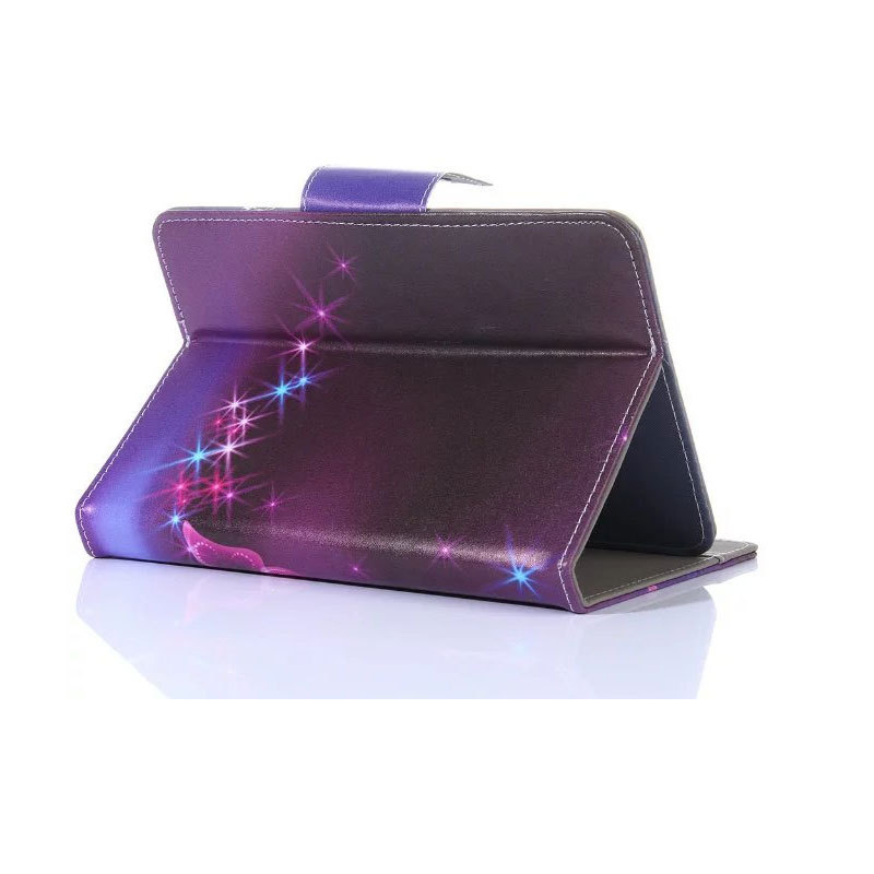 Myslc Universal Cover for BQ-7021G Hit/<font><b>7010G</b></font> Max/7064G Fusion/7004 Bali 7 inch Tablet Printed PU Leather Stand Case image